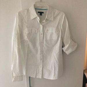 Tommy Hilfiger cotton linen button down shirt